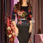 Rochie Timeless Kaki Flowers
