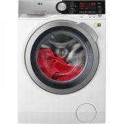 Masina de spalat rufe AEG L8FEC68S, 8 kg, 1600 RPM, Clasa A+++, Functie Eco TimeSave, Alb ieftina