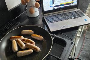 Working from home multi tasking