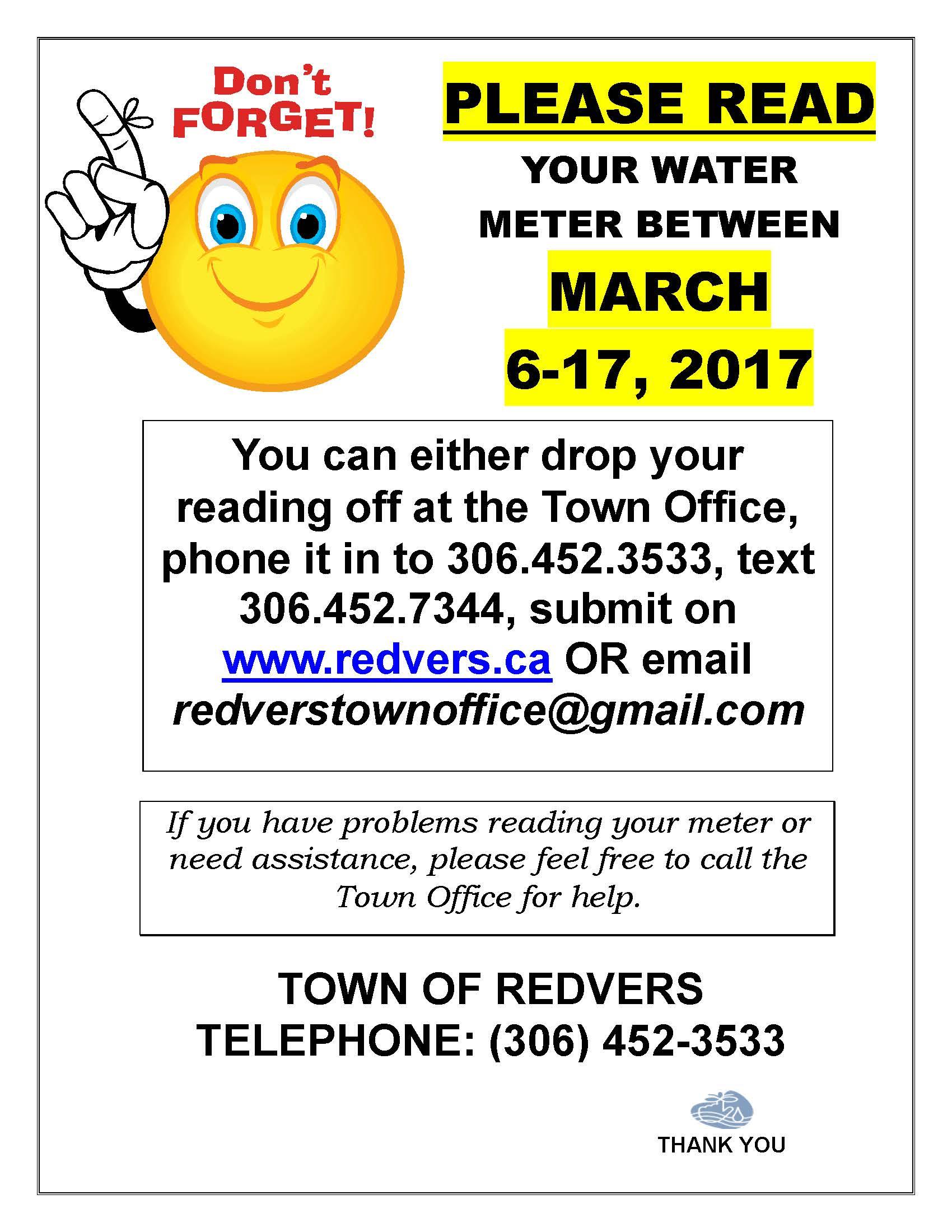 Water Meter Readings