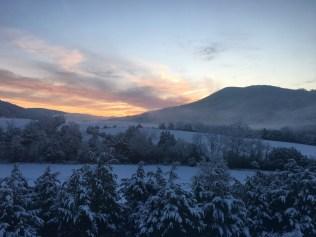 red wellie farm sunrise