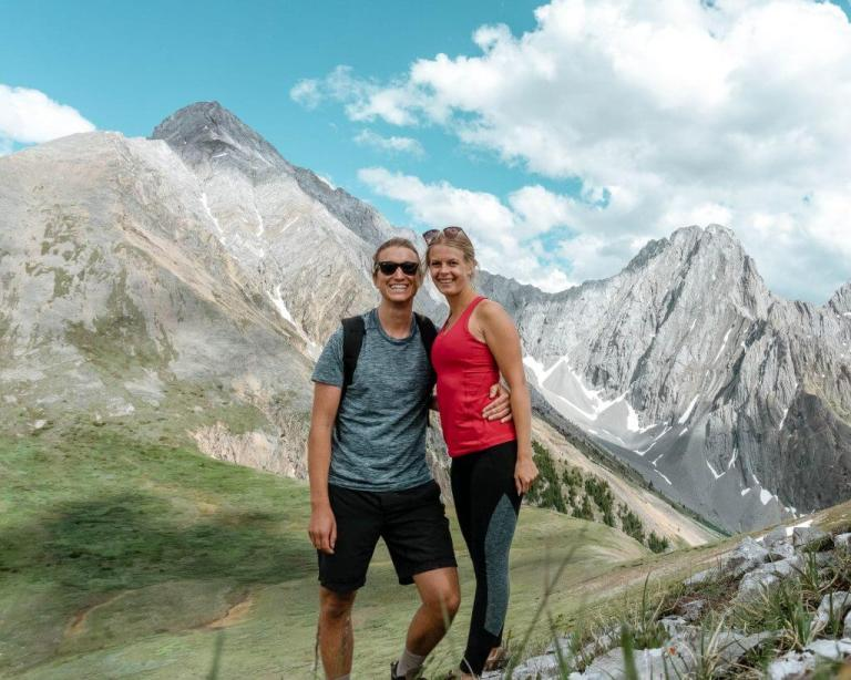 Hiking in Alberta, Canada and talking about blogging.