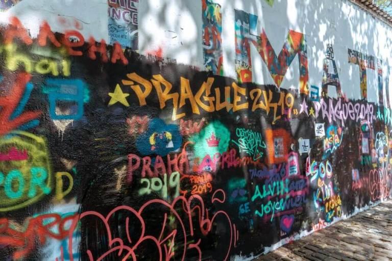 John Lennon Wall in Prague, Czech Republic.