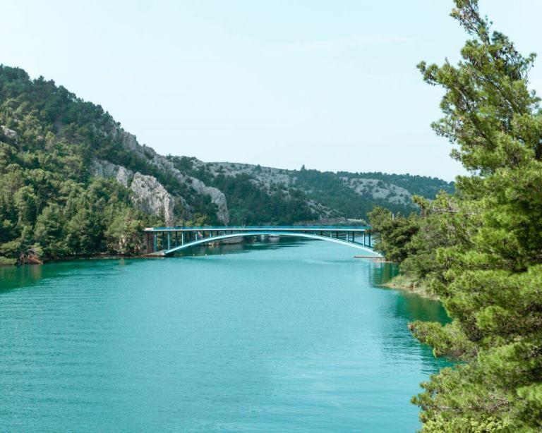 The beautiful Krka National Park in Croatia.