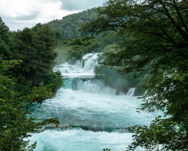 Croatia waterfalls in Krka National Park.