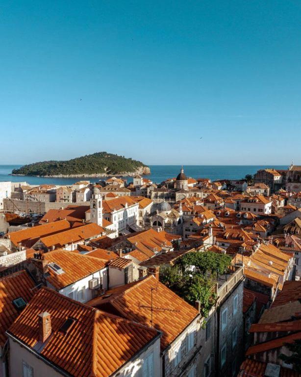 Views of Lokrum Island from Dubrovnik.
