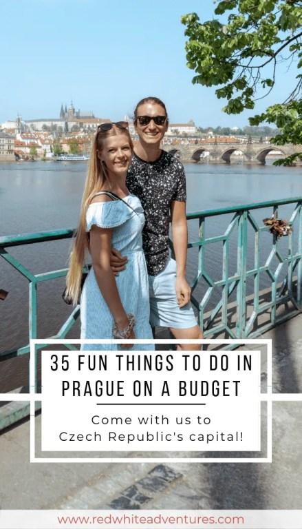 Pin for Pinterest of Prague.