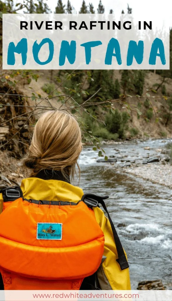 Pin for Pinterest of a whitewater rafting adventure.