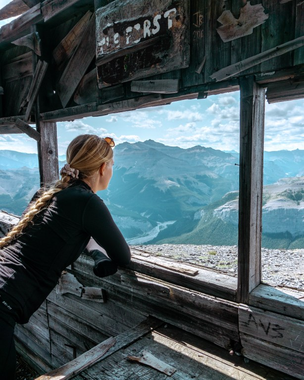 Views of the Rocky Mountains from Black Rock Hut.