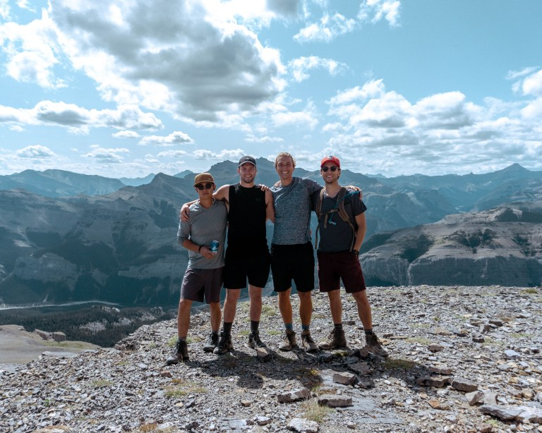 Awesome day hike in Alberta. Top of Black Rock Mountain.
