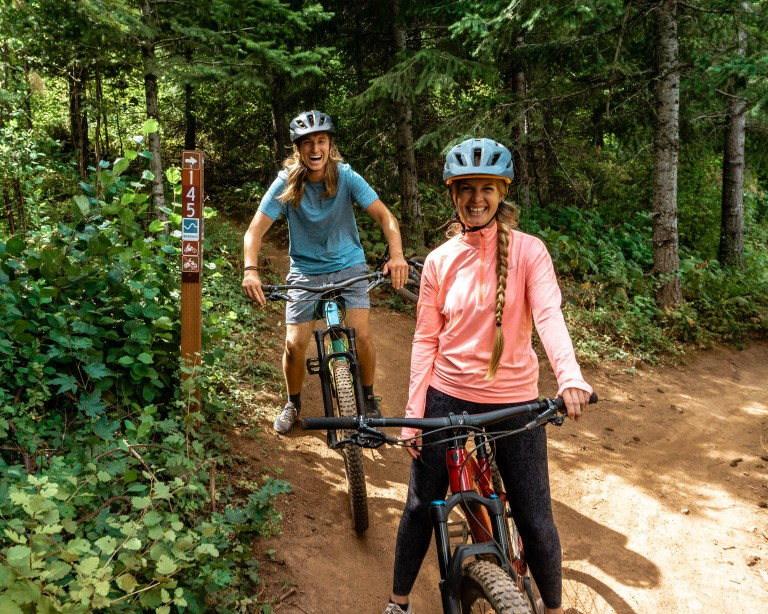 Mountain biking in Hood River Oregon with North West Excursions.