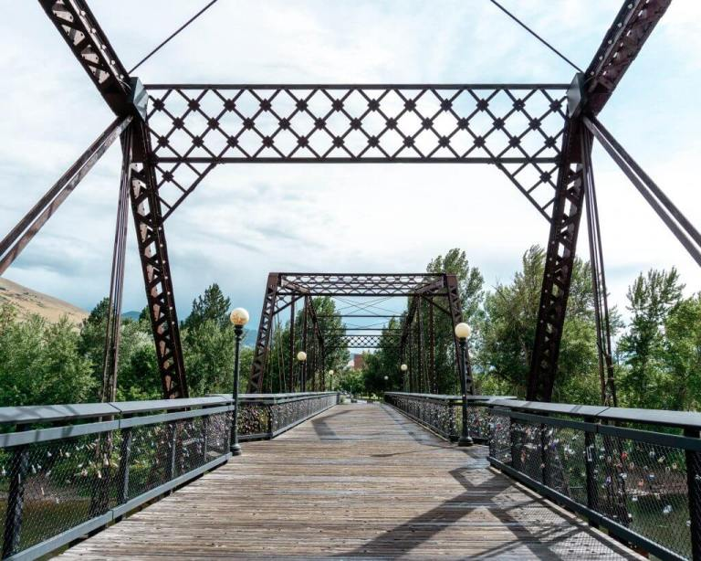Bridge in Missoula, Montana.