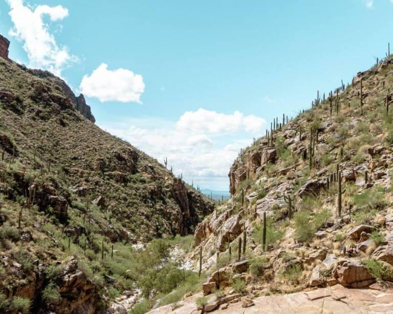7 Falls Tucson hike in Arizona.