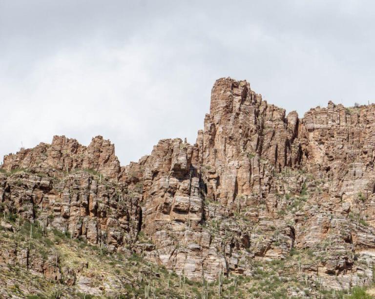Hiking in Tucson, Arizona.