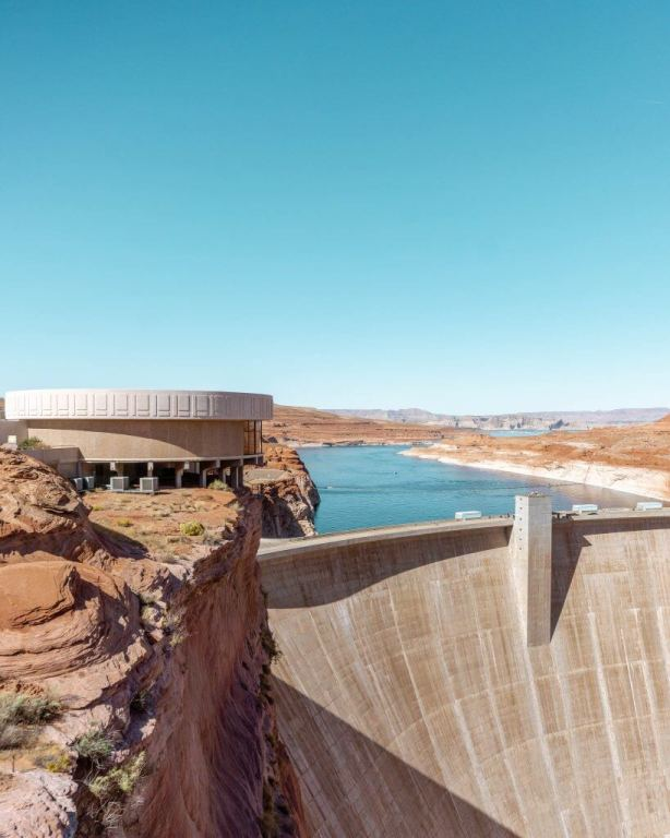 Glen Canyon Dam in Page Arizona.