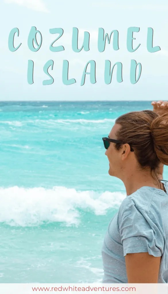 Best Things to do on Cozumel Island pin for Pinterest.
