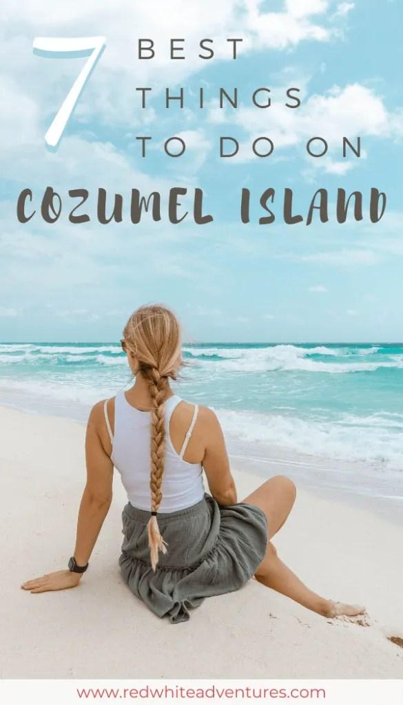 Pin for Pinterest of Cozumel.