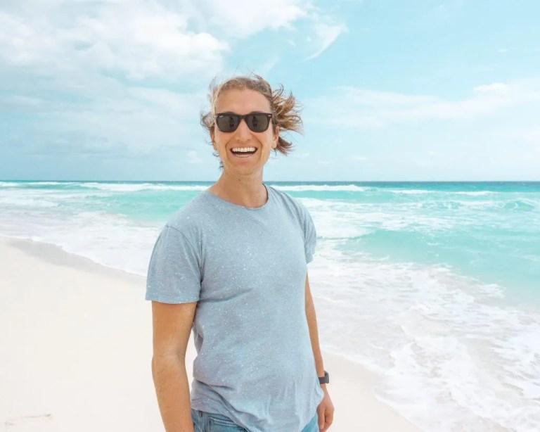 Dom enjoying a beautiful beach in Mexico!