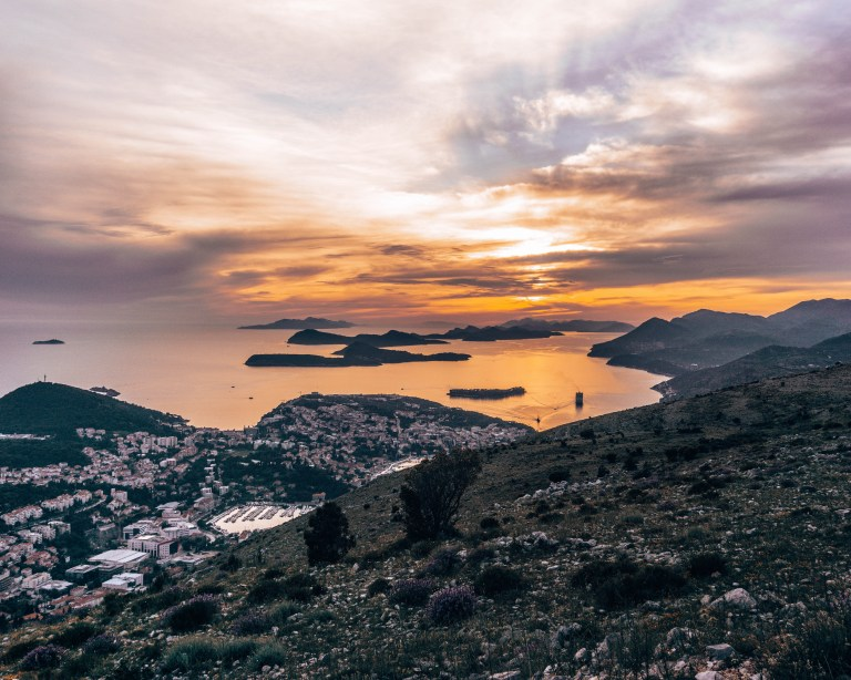 Views from the top of Mt Srd in Dubrovnik.