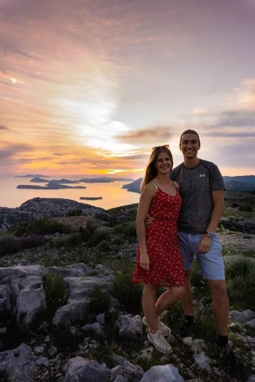 Sunset views in Dubrovnik. After hiking Mt Srd.