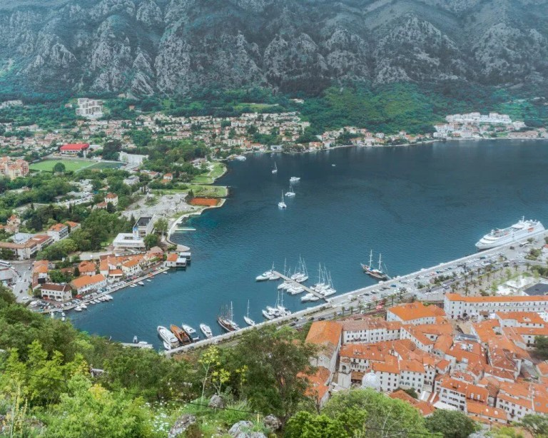 Views of the Bay of Kotor, Montenegro.
