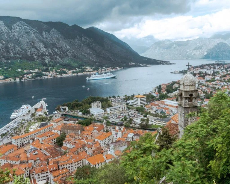 Stunning views from the Walls of Kotor.