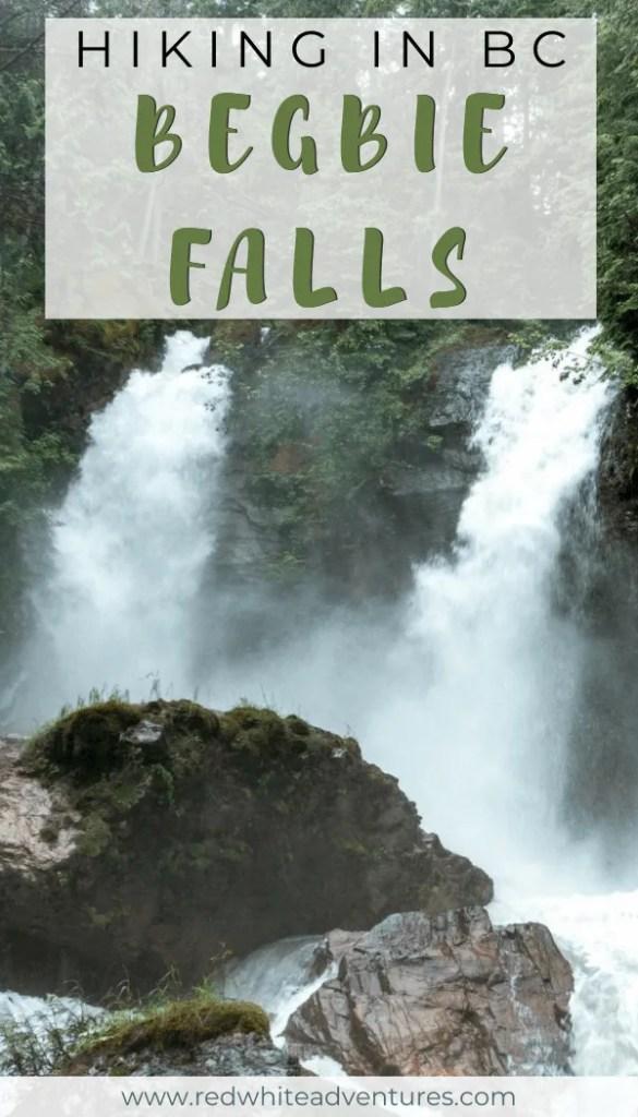 Pin for Pinterest of Begbie Falls