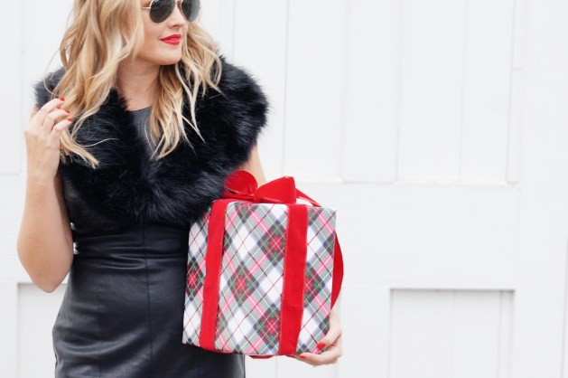 Ways to wear leather for Christmas