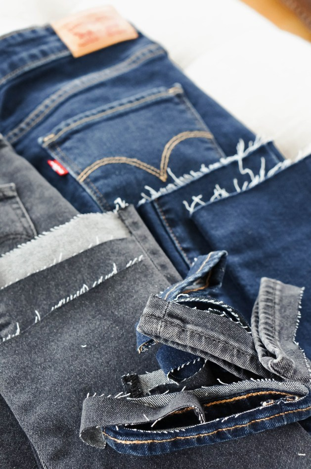 How to cut the hem off your jeans