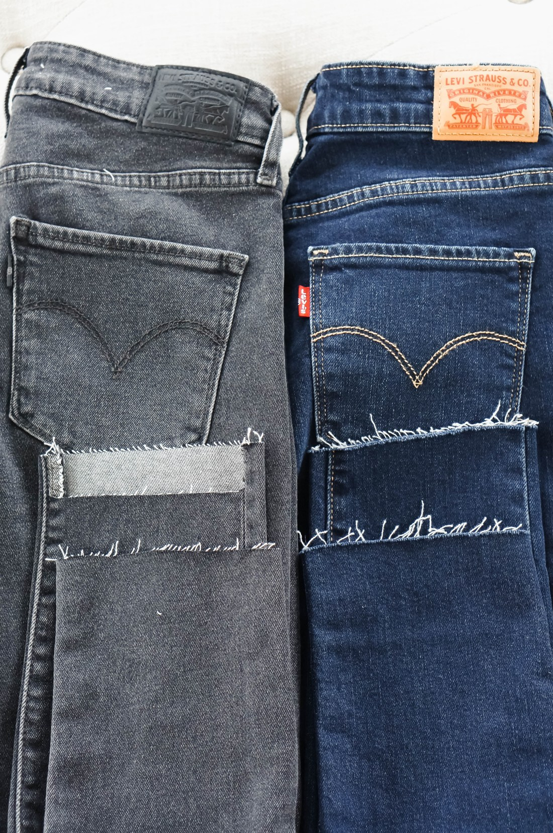 DIY: How To Cut The Hem Off Jeans   Red White & Denim
