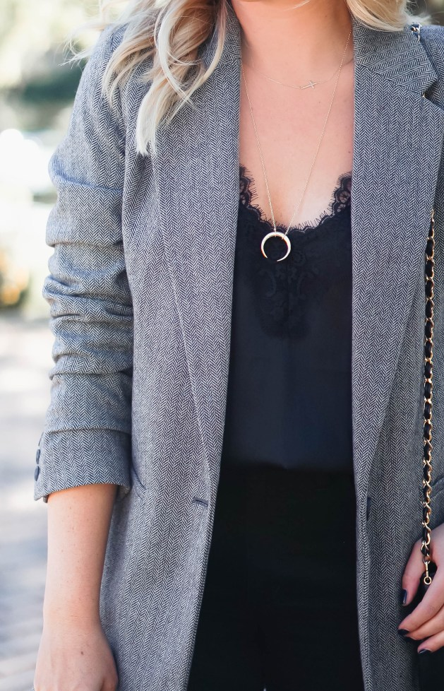 Styling a blazer for fall