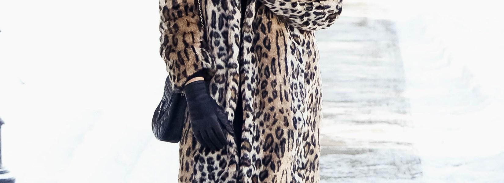 Statement Piece For Winter: Leopard Fur Coat