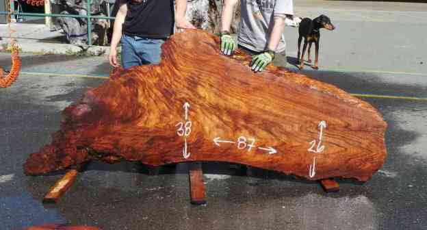 Desktop ~ Redwood Burl Slab
