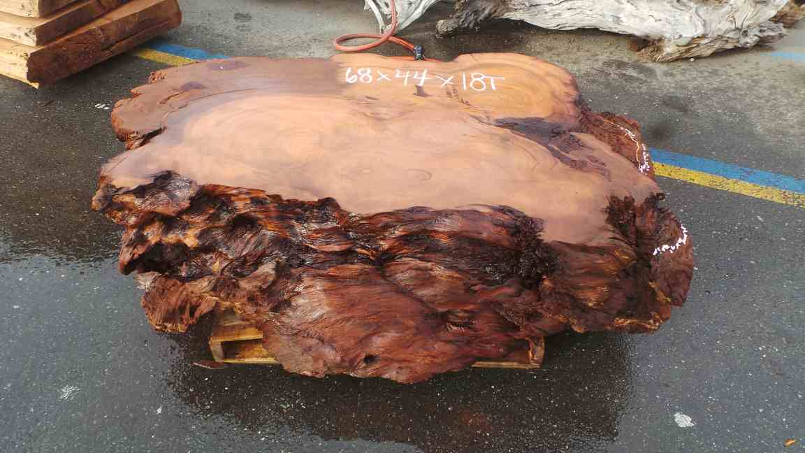 Burl Redwood Coffee Table Base