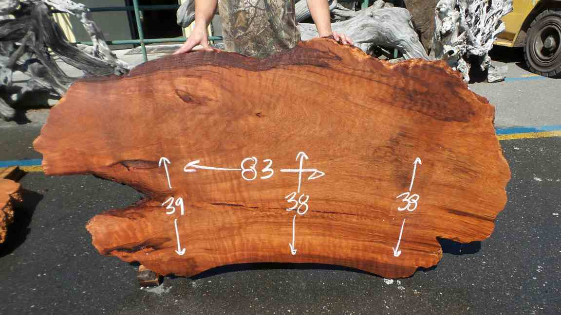 Burl Table Slab Redwood Industrial Computer Desk TableTop