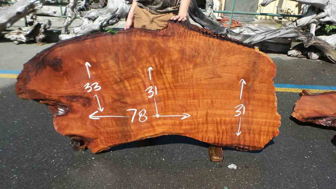Burl Wood Desk - Redwood Burl Slab for Personal Desk