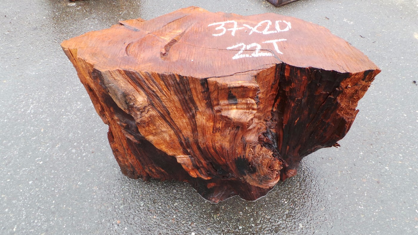 Solid Wood Coffee Table Base - Ethical Redwood