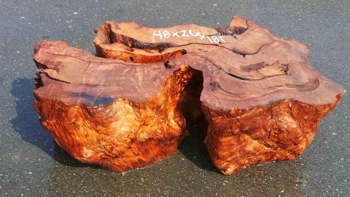 Table base - redwood