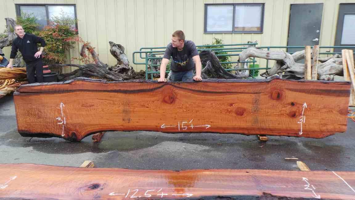 Giant Redwood Raw Wood Slab for Floating Wood Slab Sink or Bathroom Vanity