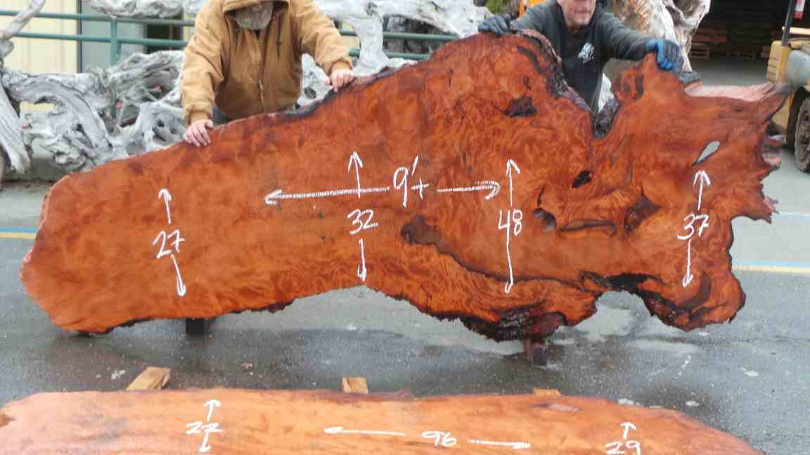Burl wood slab for bohemian kitchen counters