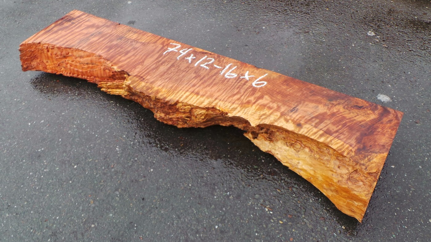 Beautiful Rustic Redwood Mantel with Curl