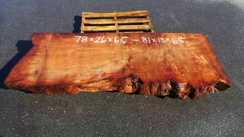 Live Edge Wooden Shelf - Reclaimed Old Growth Redwood Mantel