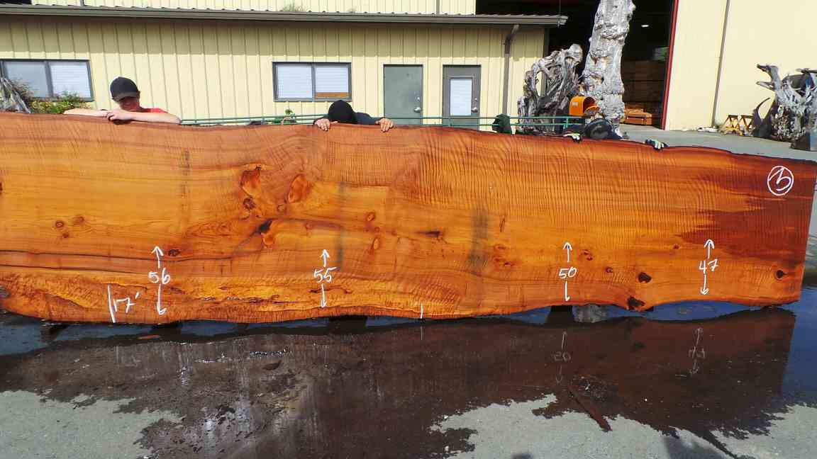 Large Raw Wood Tables - Redwood Burl Grain Tiger Stripe Wood