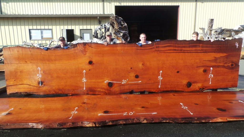 Old Growth Redwood Log for Rustic Wood Conference Table