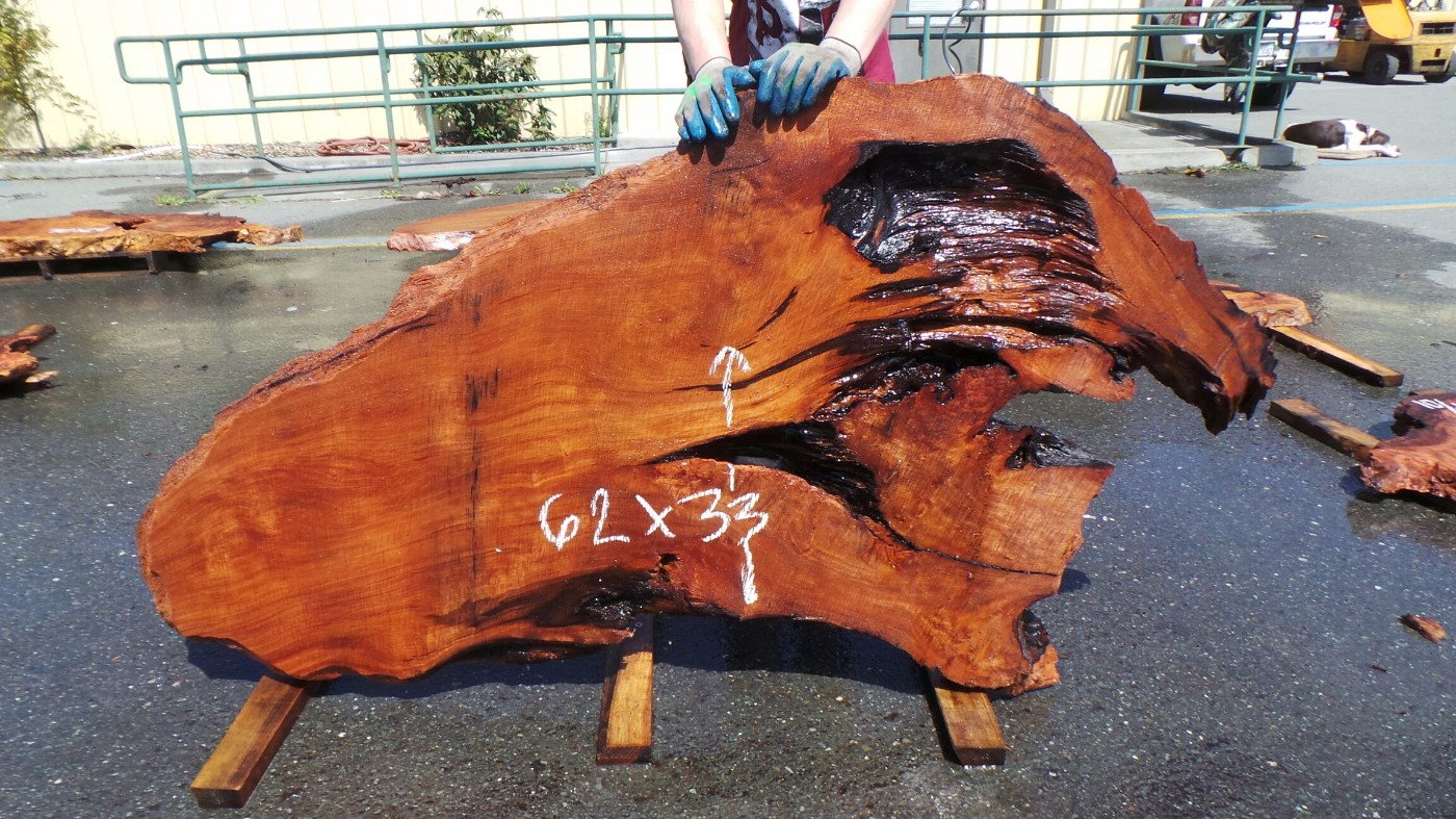 Old Growth Redwood Slab with Voids - Great for Coffee Table