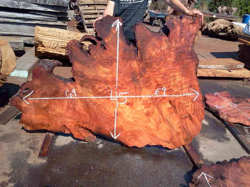 Natural Edge Slabs For Sale - Solid, Salvaged Redwood Burl Slabs