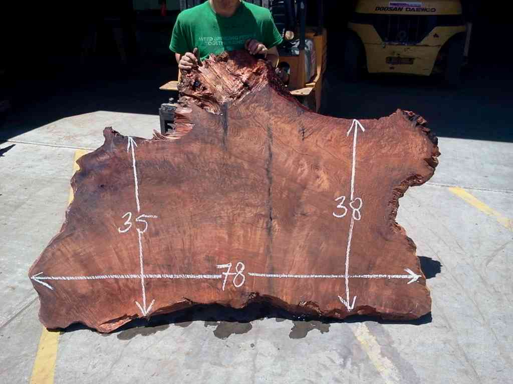 Old Growth Redwood for Tree Slab Table