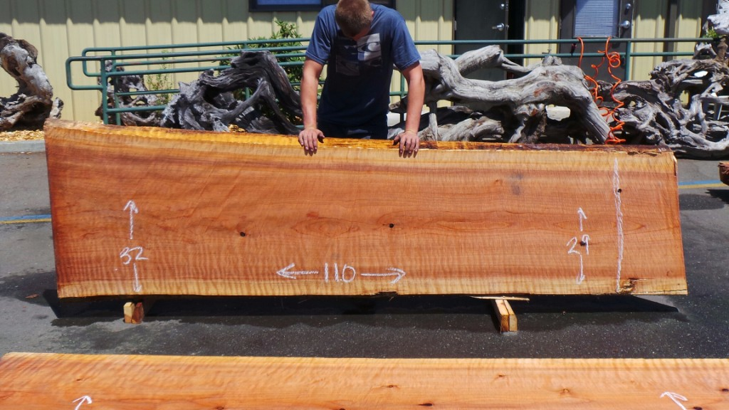 New Growth Redwood Solid Slab Table