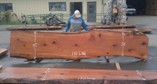 Redwood Dining Table Slab Supply - Redwood Burl Slabs