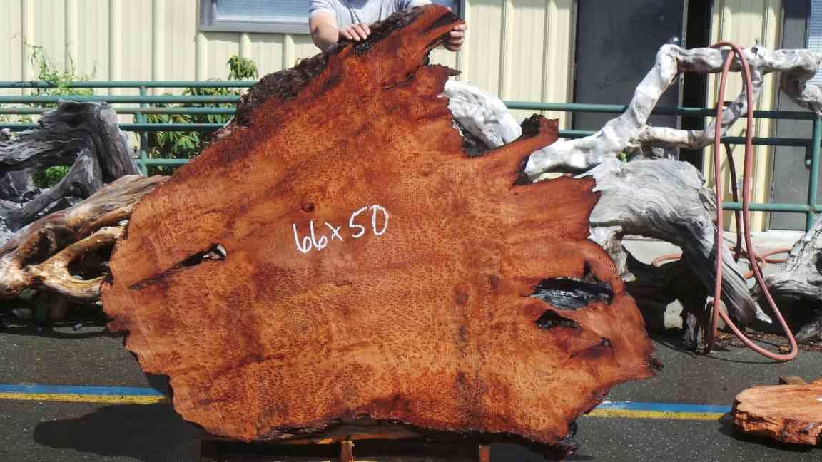 Live edge redwood slab for rustic kitchen table